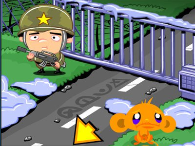 Monkey Go Happy Army Base