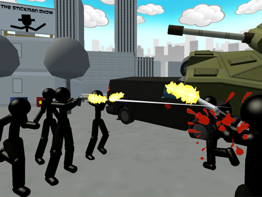 Stickman City Shooting 3D